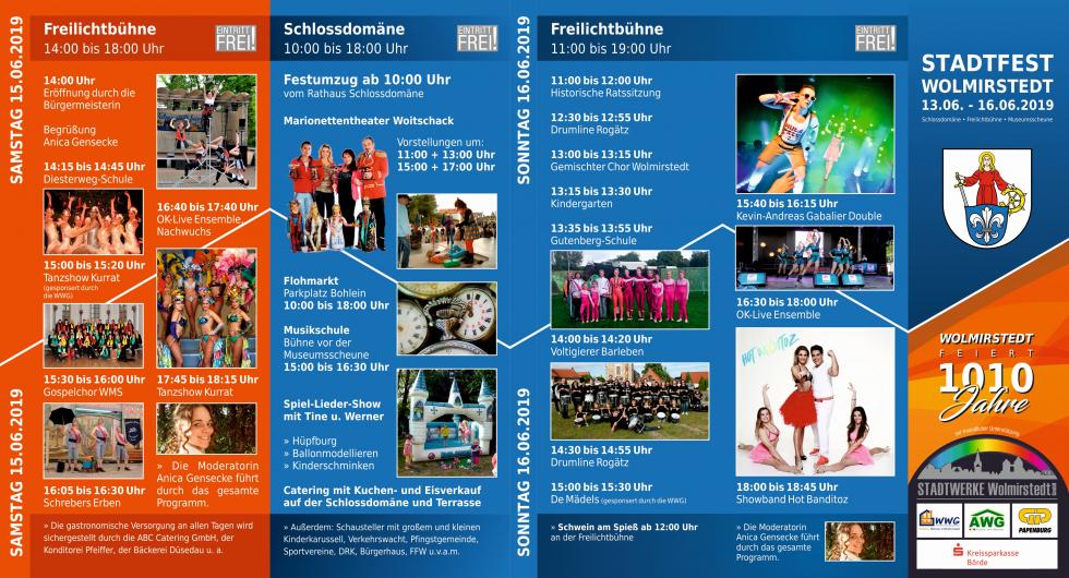 Stadtfest Flyer Seite 1