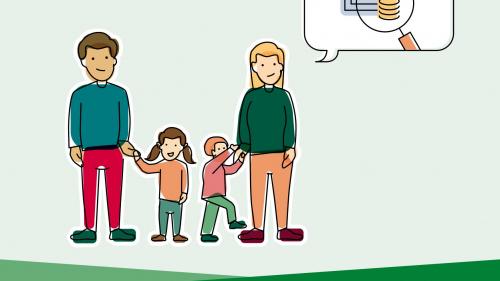 Leistungen für Familien mit kleinem Einkommen