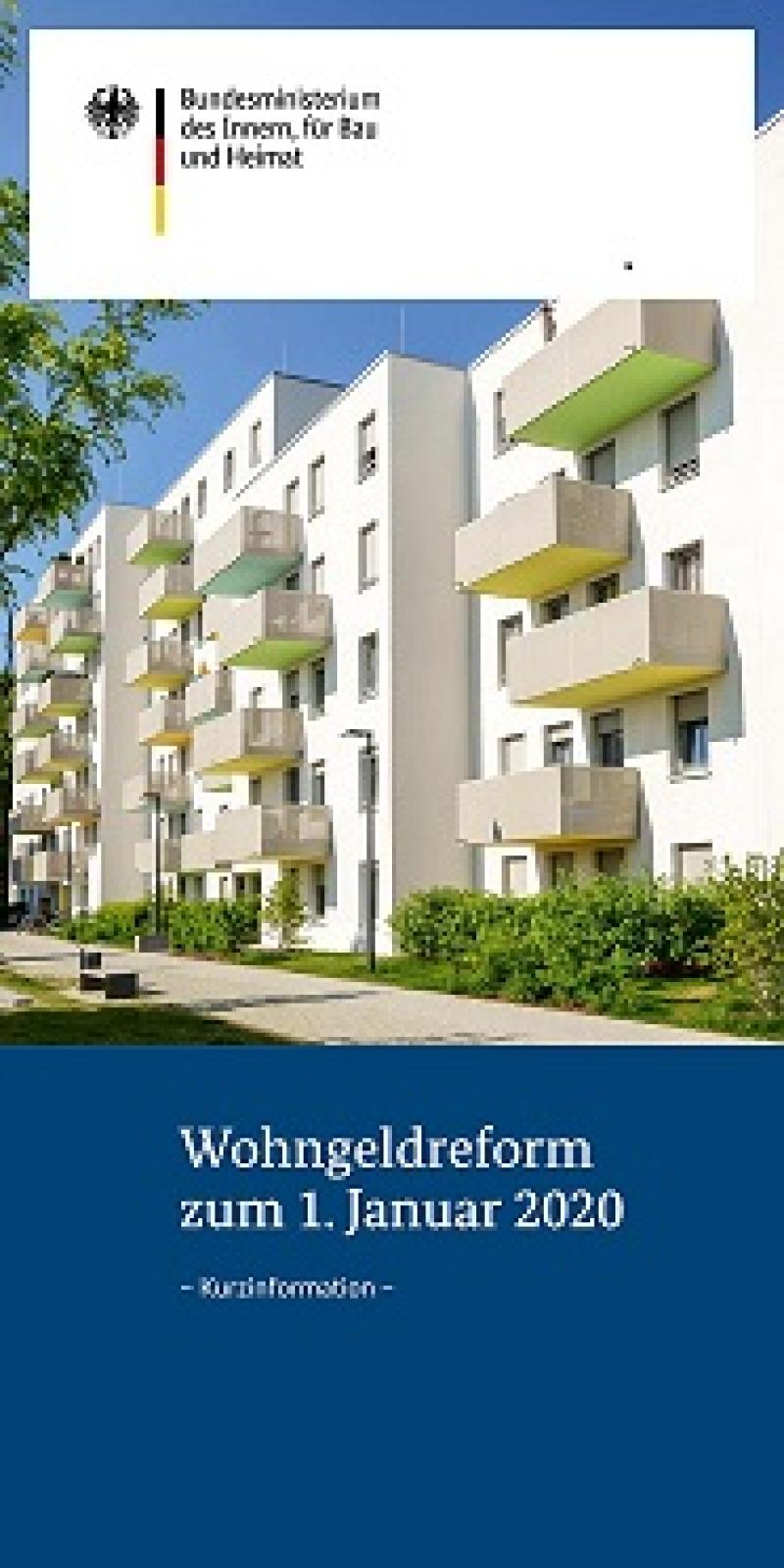 Wohngeldreform zum 01.Januar 2020